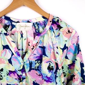 Yumi Kim colorful floral blouse small